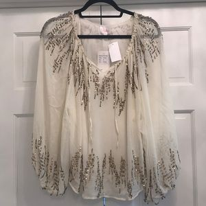NWT Parker Beaded Blouse - size S
